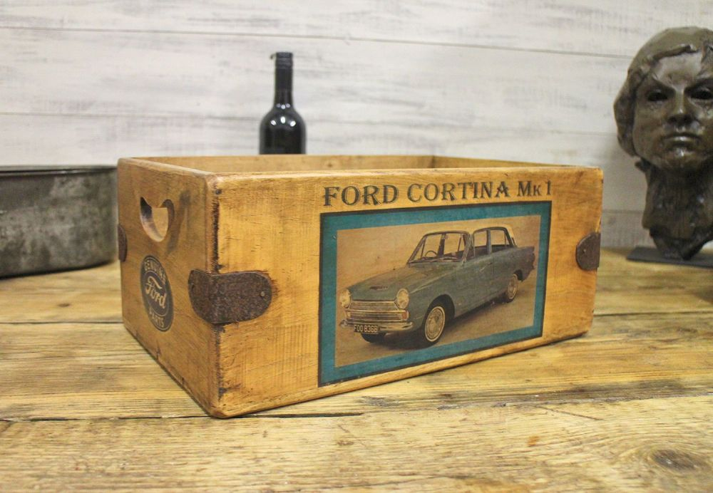 Ford Cortina  MK1 Vintage Box Great Mens Gift Storage Crate Desk Classic Car Garage